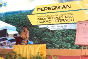 Pemerintah Resmikan Pabrik Kakao Batang
