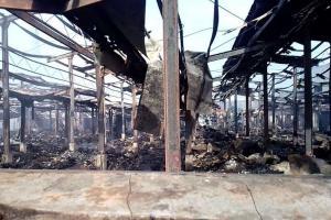 Api Kembali Muncul di Pasar Mandiraja