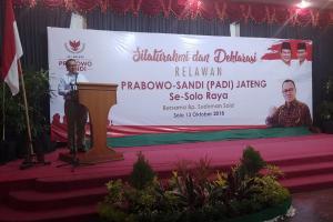 Timses Prabowo Soroti Apel Kebangsaan Pemprov Jateng