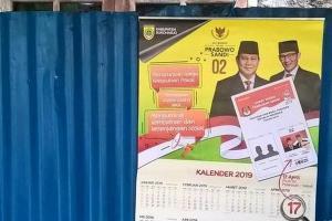 Almanak Prabowo-Sandi Berlogo Pemkab Sukoharjo Disita