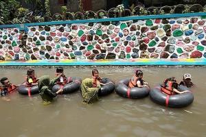 Warga Bantul Sulap Drainase Jadi Lokawisata Air