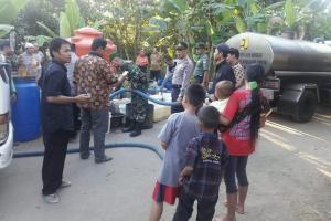 Distribusi Air Bersih, Polres Banyumas Kerahkan 'Water Cannon'