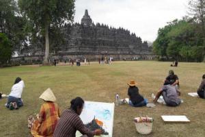 Balai Konservasi Borobudur Gelar Acara Melukis Bersama