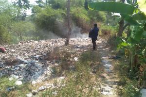 Sungai Gemuling Klaten Dipenuhi Sampah