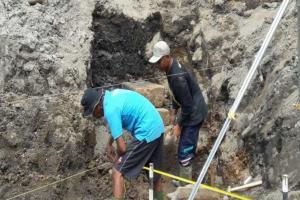 Runtuhnya Candi Petirtaan Akibat Bencana Alam