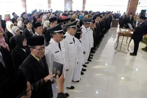 Wali Kota Magelang Lantik 206 Pejabat