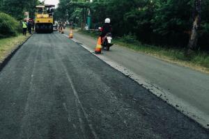 Kementerian PUPR Aplikasikan Aspal Karet di Jateng