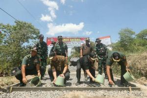 Kodim Boyolali Perbaiki Jalur Evakuasi Merapi