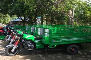 KLHK Sumbang 35 Motor Pengangkut Sampah ke 3 Kabupaten di Jateng
