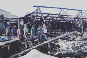Pasar Mungkid Terbakar, Kerugian Sekitar Rp3 Miliar
