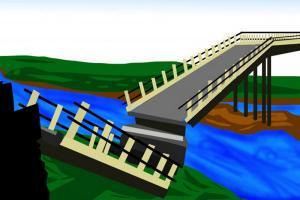 Fondasi Jembatan Desa Sukareja-Kertasari Tegal Patah