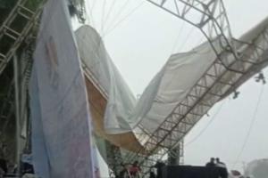 Atap Panggung Tahun Baru Magelang Ambruk Diterjang Hujan