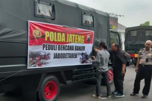 Polda Jawa Tengah Kirim Bantuan Untuk Korban Banjir Jabodetabek