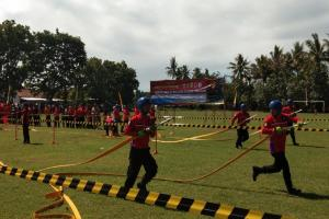 BPBD Bantul Gelar Lomba Ketangkasan Sukarelawan Damkar
