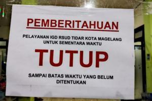 Pelayanan IGD RSUD Tidar Kota Magelang Tutup