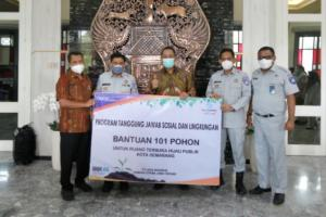 Pemkot Semarang Terima Bantuan 101 Pohon dari Jasa Raharja