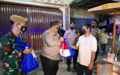 Polres dan Kodim Magelang Salurkan Paket Sembako bagi Warga