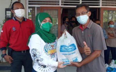 100 PKL di Grobogan Dapat Bantuan Sembako dari Indomaret